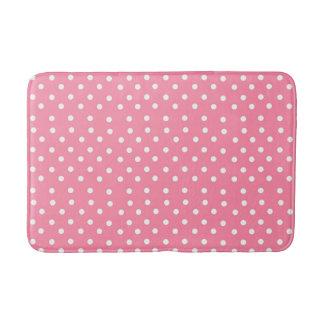 Pink Polka Dot Style Bathroom Mat