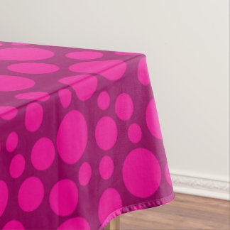 Pink polka dot tablecloth