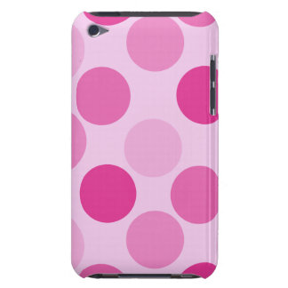 Pink Polka Dot Touch  Barely There iPod Covers
