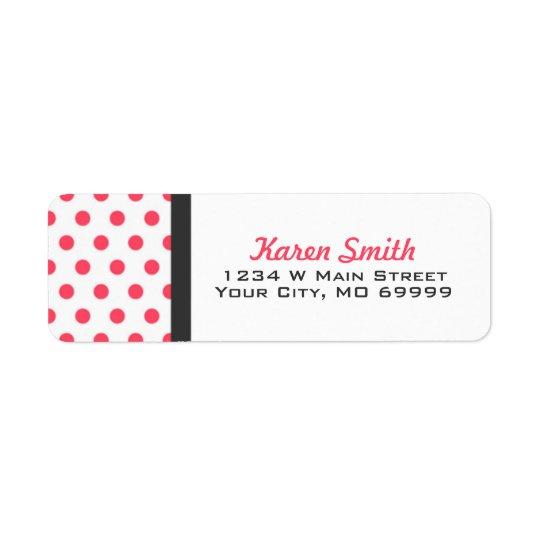 Pink Polka Dots Address Labels