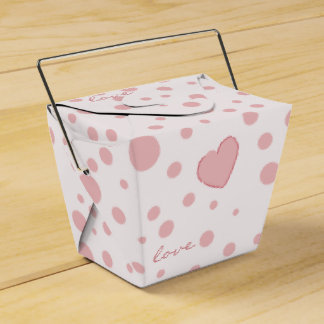 Pink Polka Dots and a Heart Favor Box