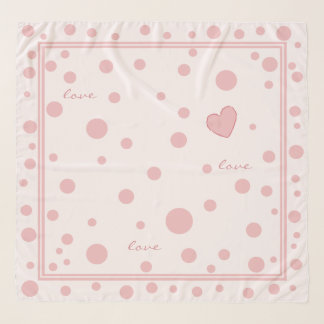 Pink Polka Dots and a Heart Scarf