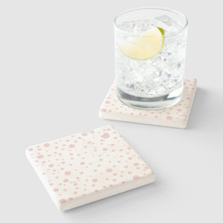 Pink Polka Dots and a Heart Stone Coaster