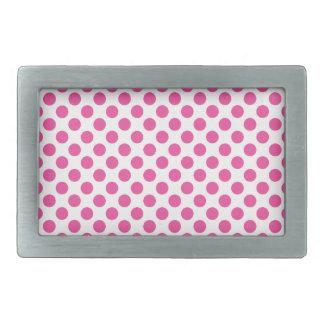 Pink Polka Dots Belt Buckle