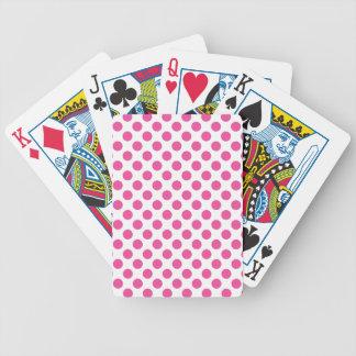 Pink Polka Dots Bicycle Playing Cards