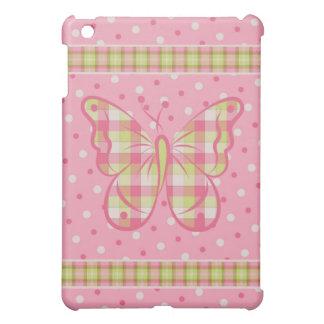 Pink Polka Dots Butterfly  iPad Mini Cover