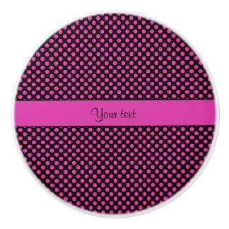 Pink Polka Dots Ceramic Knob