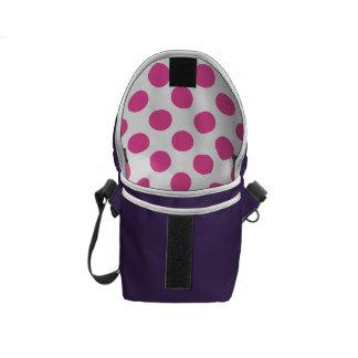 Pink Polka Dots Courier Bag