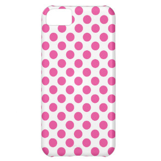 Pink Polka Dots Cover For iPhone 5C