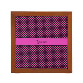 Pink Polka Dots Desk Organizer
