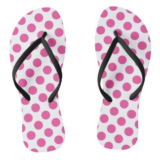 Pink Polka Dots Flip Flops