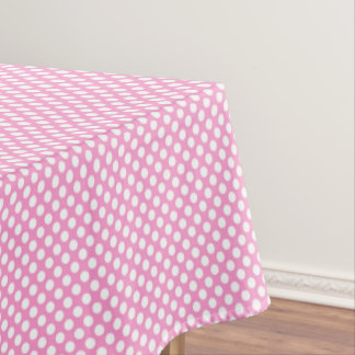 Pink Polka Dots Girls Birthday Party Table Cloth Tablecloth