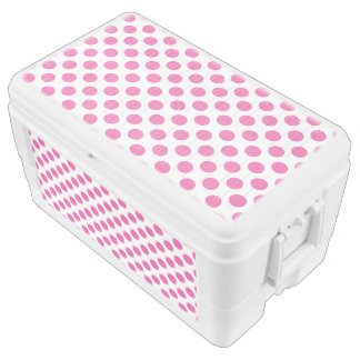Pink Polka Dots Ice Chest