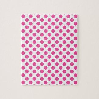Pink Polka Dots Jigsaw Puzzle