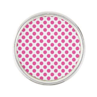 Pink Polka Dots Lapel Pin