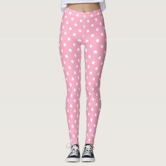 Pink Polka Dots Leggings