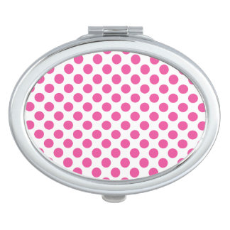 Pink Polka Dots Mirror For Makeup