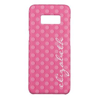 Pink Polka Dots Monogram Case-Mate Samsung Galaxy S8 Case