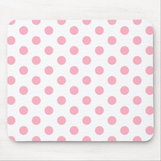 Pink Polka Dots Mouse Pad