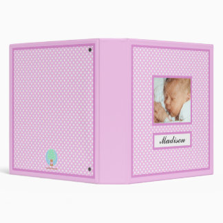 Pink Polka Dots New Baby Book Binder