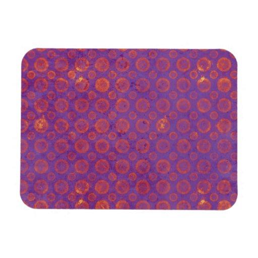 Pink Polka Dots on Purple Flexible Magnets