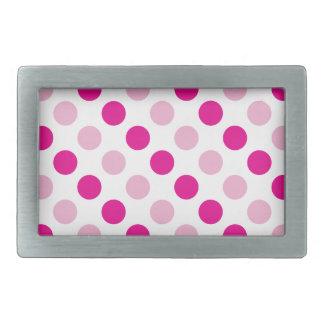 Pink polka dots pattern belt buckle