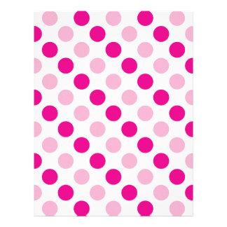 Pink polka dots pattern letterhead