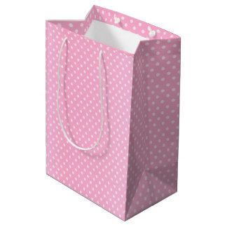 Pink Polka Dots Pattern Medium Gift Bag