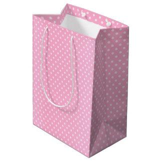 Pink Polka Dots Pattern Medium Gift Bag