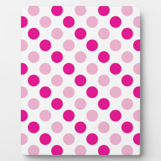Pink polka dots pattern plaque