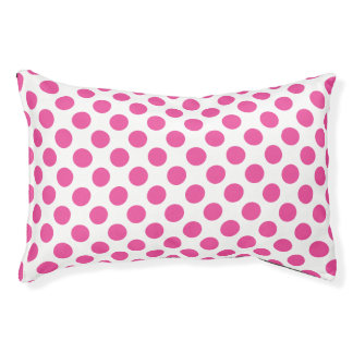 Pink Polka Dots Pet Bed