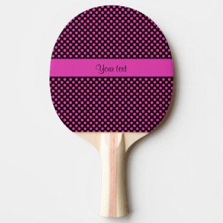 Pink Polka Dots Ping Pong Paddle