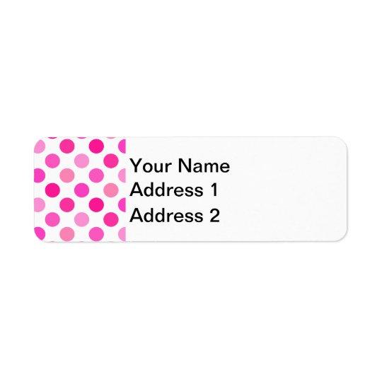 Pink Polka Dots Return Address Label