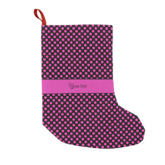 Pink Polka Dots Small Christmas Stocking