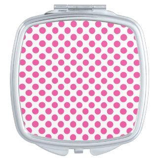 Pink Polka Dots Travel Mirror