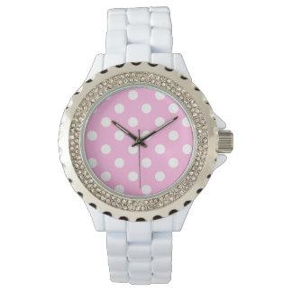 Pink Polka Dots Watch