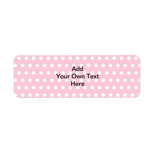 Pink Polka Dots, with Custom Black Text.