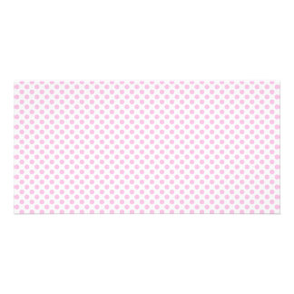 Pink Polka Dots with Customizable Background Picture Card