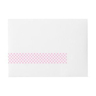 Pink Polka Dots with Customizable Background Wraparound Address Label