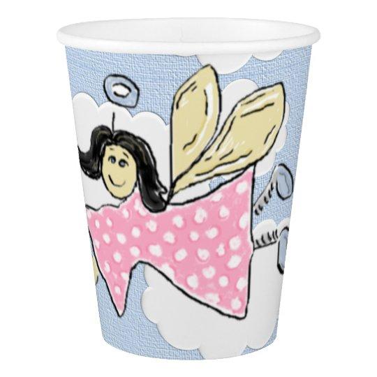 Pink Polkadot Angel Paper Cup