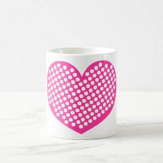 Pink Polkadot Heart Coffee Mug