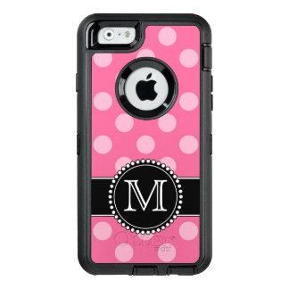 Pink Polkadot, Personalized, Monogrammed Defender OtterBox Defender iPhone Case