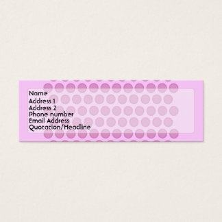 Pink Polkadot Profile Card