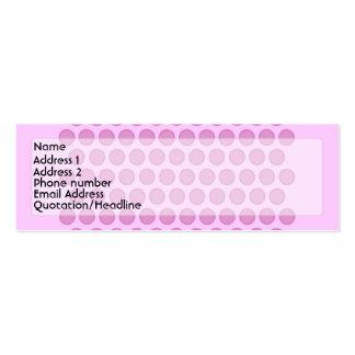 Pink Polkadot Profile Card Business Cards