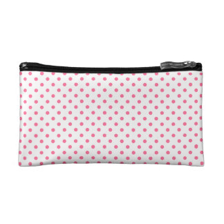 Pink Polkadots Pattern Cosmetic Bag