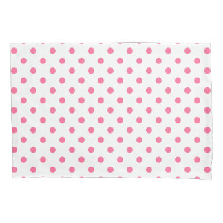 Pink Polkadots Pattern Pair of Pillowcases