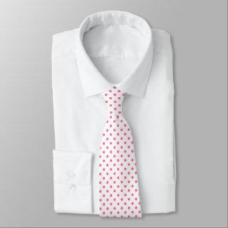 Pink Polkadots Pattern Tie