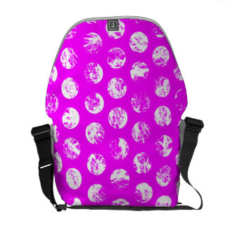 pink  polkadots square courier bags