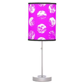 pink  polkadots square desk lamp