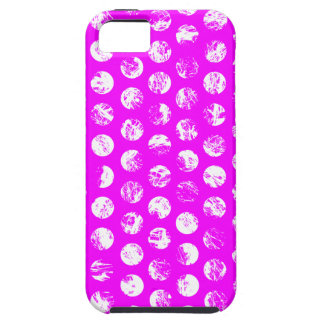 pink  polkadots square iPhone 5 cover